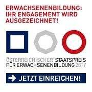Jetzt einreichen - Österreichischer Staatspreis für Erwachsenenbildung